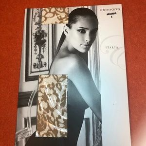 *3for$30* Floral  tan tights made in Italy, new